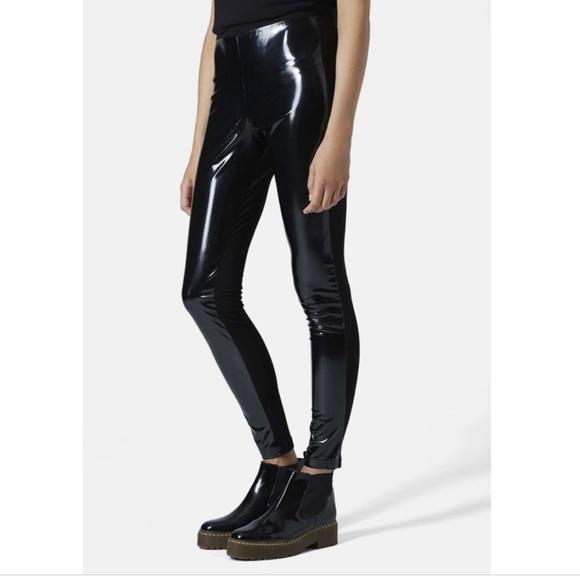 2019 original 2019 real real deal Topshop Vinyl Patent Leather Shiny Black Leggings